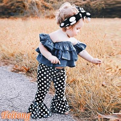 Ruffle Shorts Sets Toddler Backless Outfit Newborn Baby Girls Polka Dot Tops