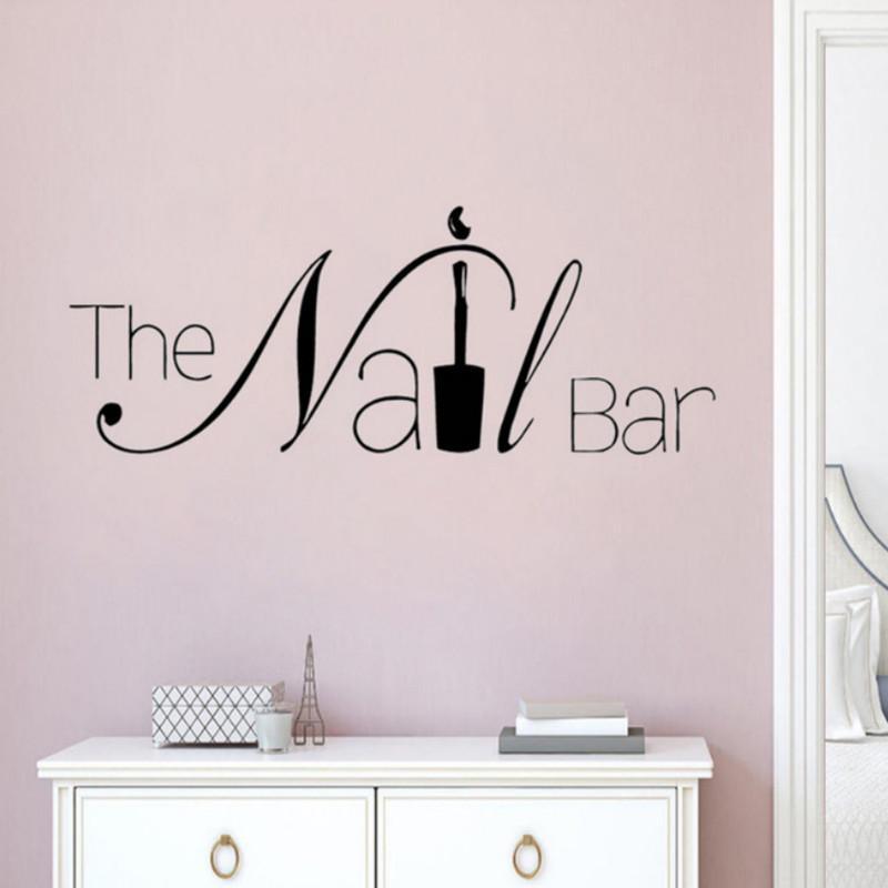 Nail SALON Wall Sticker Manicure Pedicure Beauty Decal Art ns1