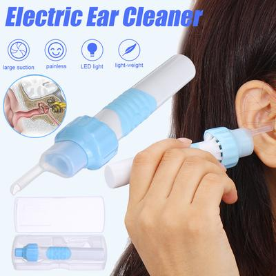 ghfcffdghrdshdfh Electric Safe Cordless Vacuum Ear Cleaner Cleaning Wax Remover Painless Tool white /& blue