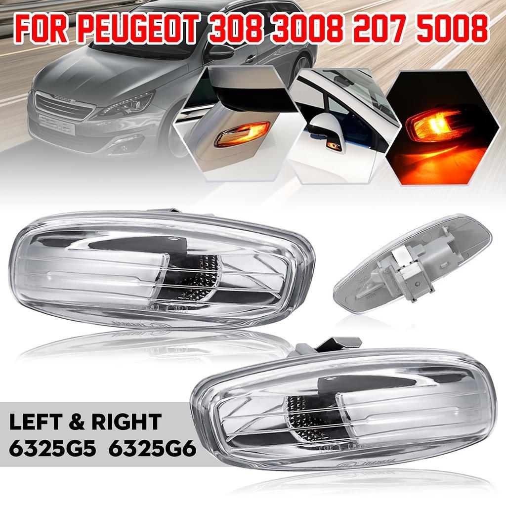 3008 C4 308 I Picasso C5 II LED Side Indicator Black Compatible with 207 C4 II 408 5008 and C3 II