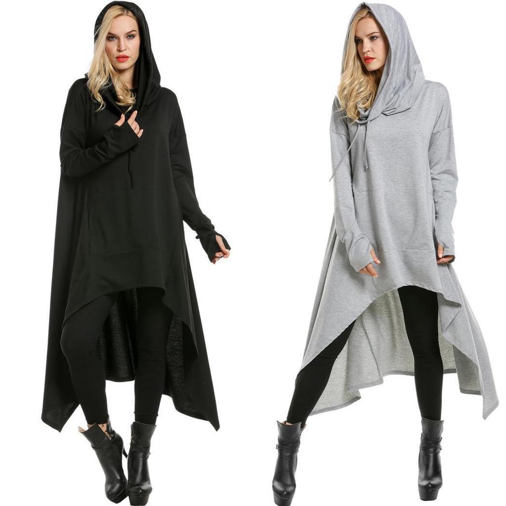 Frauen voller Länge Reißverschluss vorne-lange Hoodies-Hooded Robe Bademantel