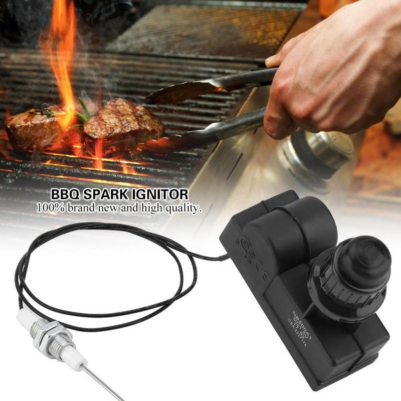 Picnic BBQ Gas Grill Push Button Spark Generator Ignitor Kit with 60cm Cable