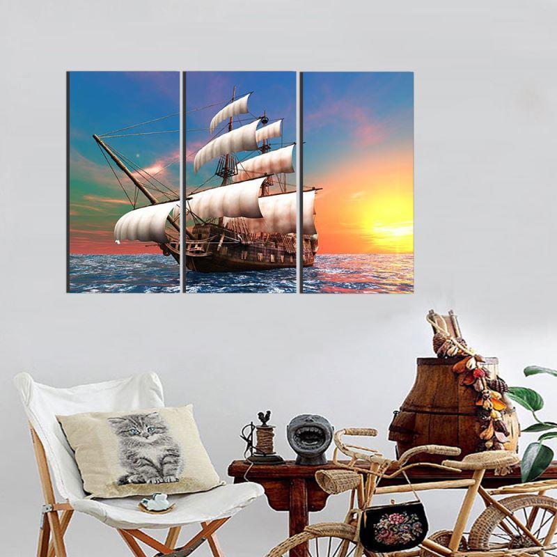 Segelboot-moderne Kunst Ölgemälde – zu den niedrigen Preisen im ...