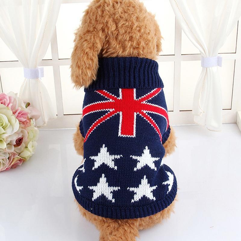 Perro mascota cachorro gato cálido Puente punto suéter ropa punto ...