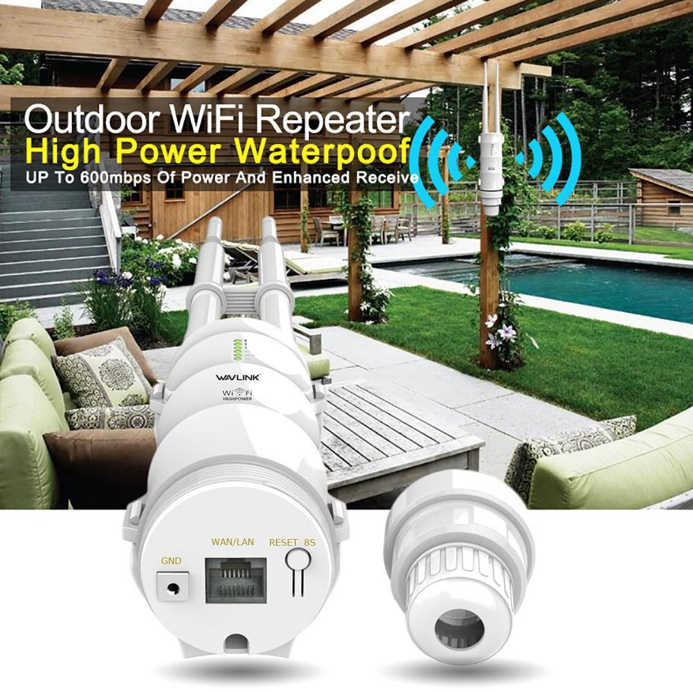 AC600 High Power Outdoor WiFi Extender AP Repeater Signal Range Booster 2.4G+5G