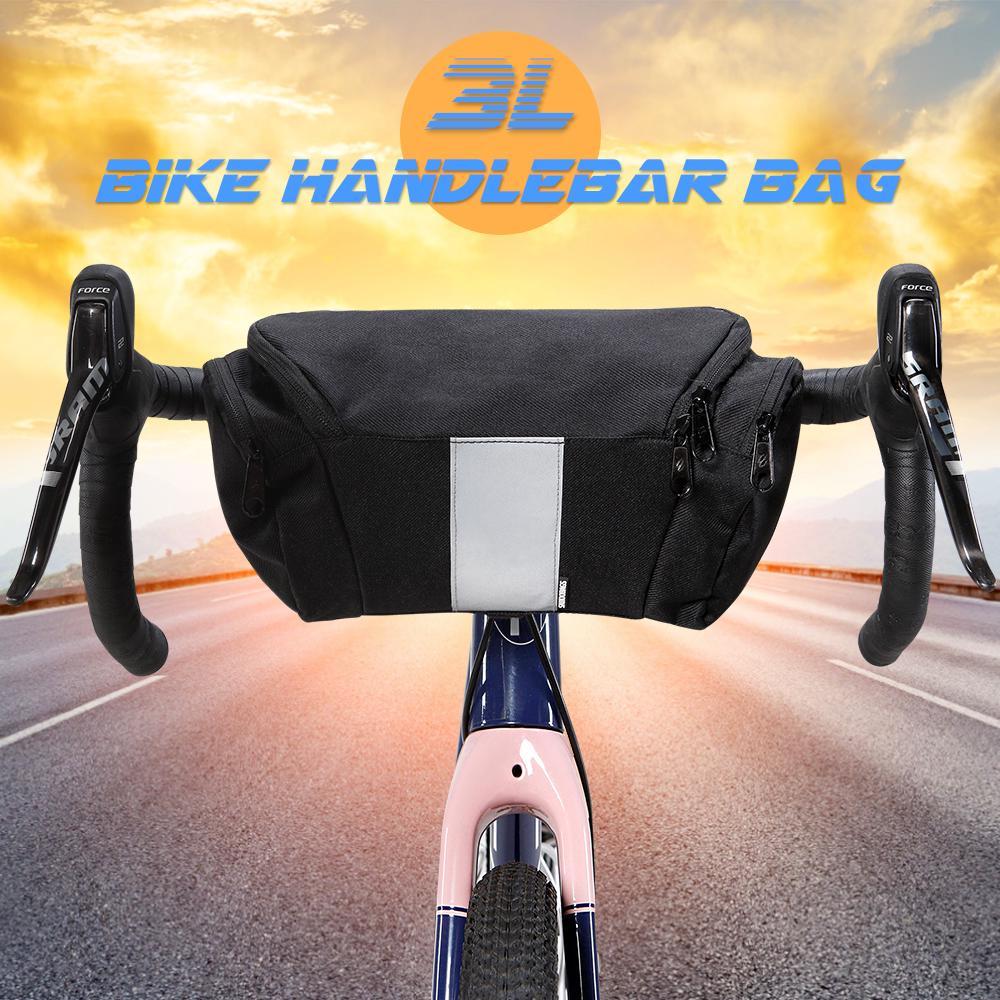 Jannyshop-123 Bolsa de Manillar de Bicicleta Impermeable Paquete de Cesta de Bicicleta Bolsa de Almacenamiento para Monta/ña Bicicleta Scooter El/éctrico Coche de Equilibrio