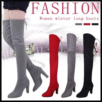Donna inverno scarpe tacco piatto tinta unita stivali lunghi Casual  appartamenti Boot scarpe stivali all  eed92219eca
