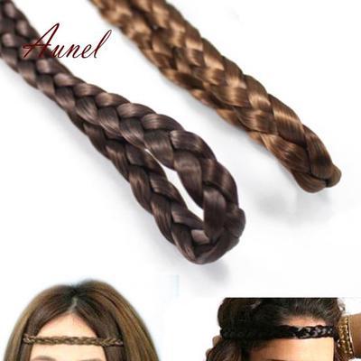 Lady Headwear Hairband Twisted Braid Hair Band Elastic Braided Headband Bohemian