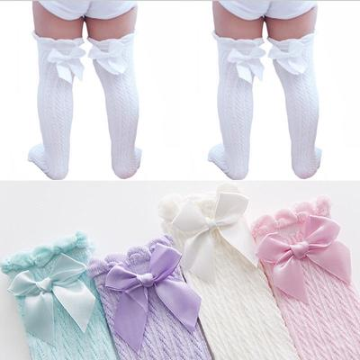 Baby Girls Hollow Lace Princess Stockings Cotton Knee-high Tube Warm Stockings