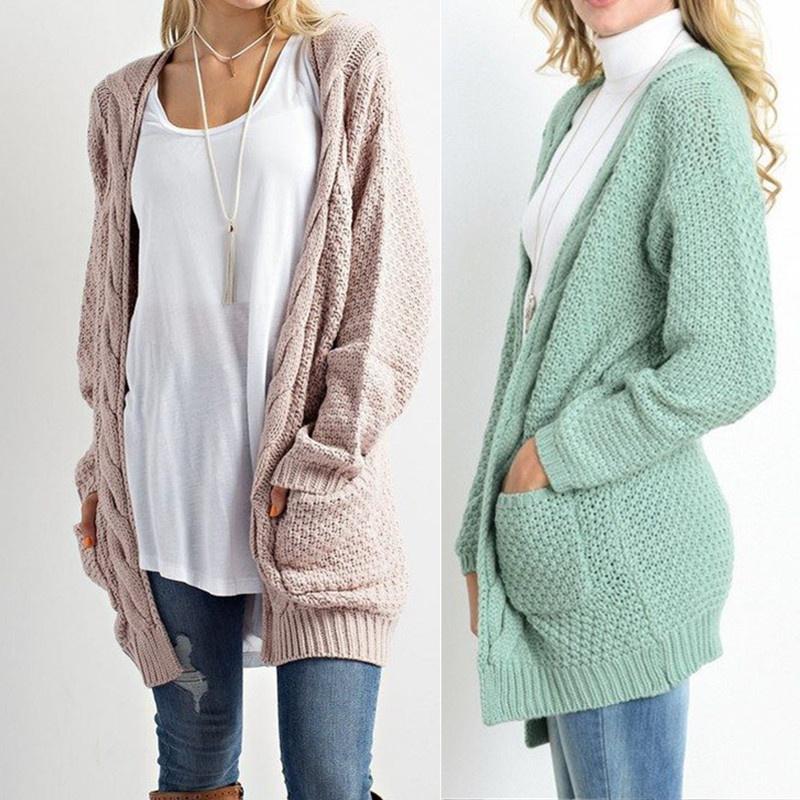 disponibilidad en el reino unido f35ab e49e0 Vestido Casual rebecas de punto de Jersey de mujer con bolsillo SG0767 -  comprar a precios bajos en la tienda en línea Joom