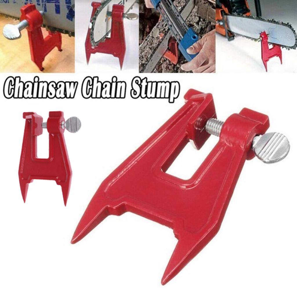 Metal Stump Vise Chainsaw Sawing Sharpening Filing Tool Bar Clamp Professional