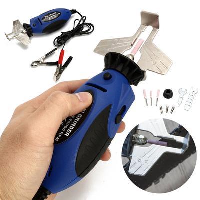 12V Mini Chainsaw Sharpener Electric Grinder Chain Saw Grinder File Pro Tool Set
