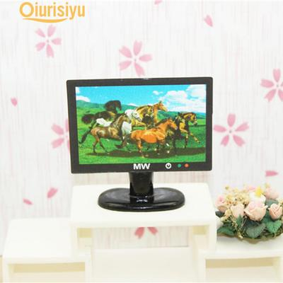 LCD TV Doll Toy Structures Accessories For Doll House Furniture Toy New