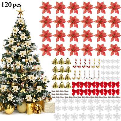 3PCS Hollow Butterfly Christmas Tree Clip-on Artificial Bauble Xmas Home Decor