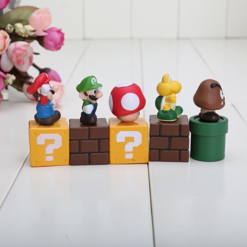 Bundle Blocks Mario Goomba Luigi Koopa Troopa And Mushroom Pvc