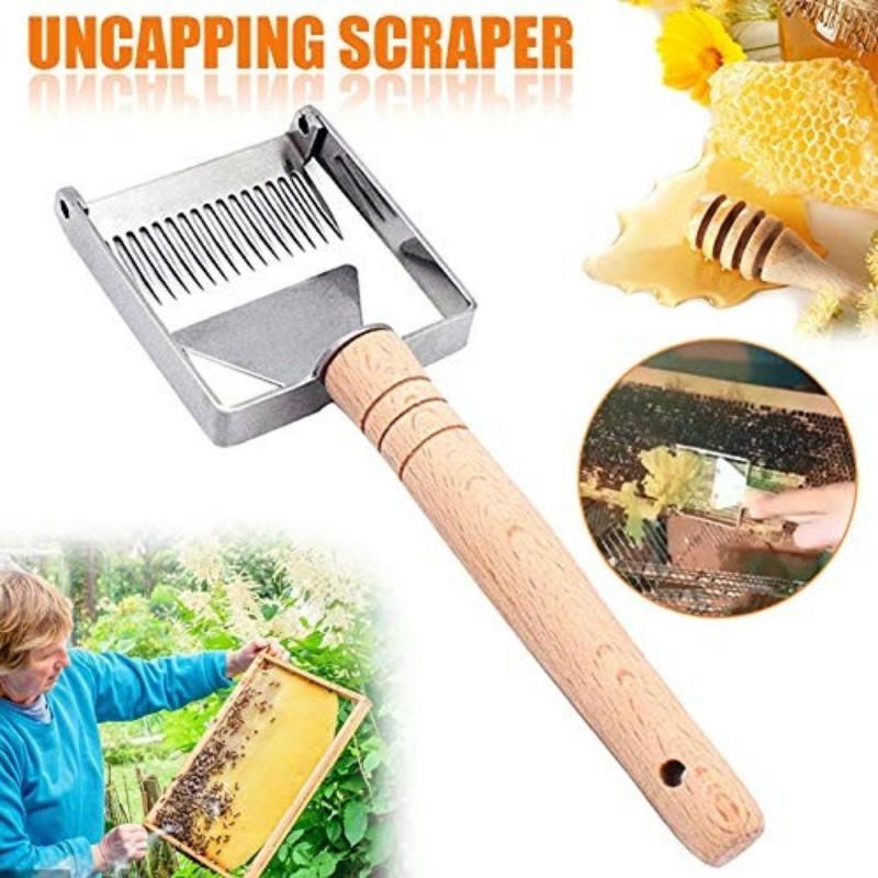 Stainless Steel Honey Cutter Honey Fork Scraper Pick Cover Bee Beekeeping Tool