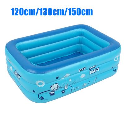 1.3m Portable Rectangular Inflatable Childrens Pool Can Accommodate 1-2 Children at The Same Time Foldable Family Swimming Center Pool