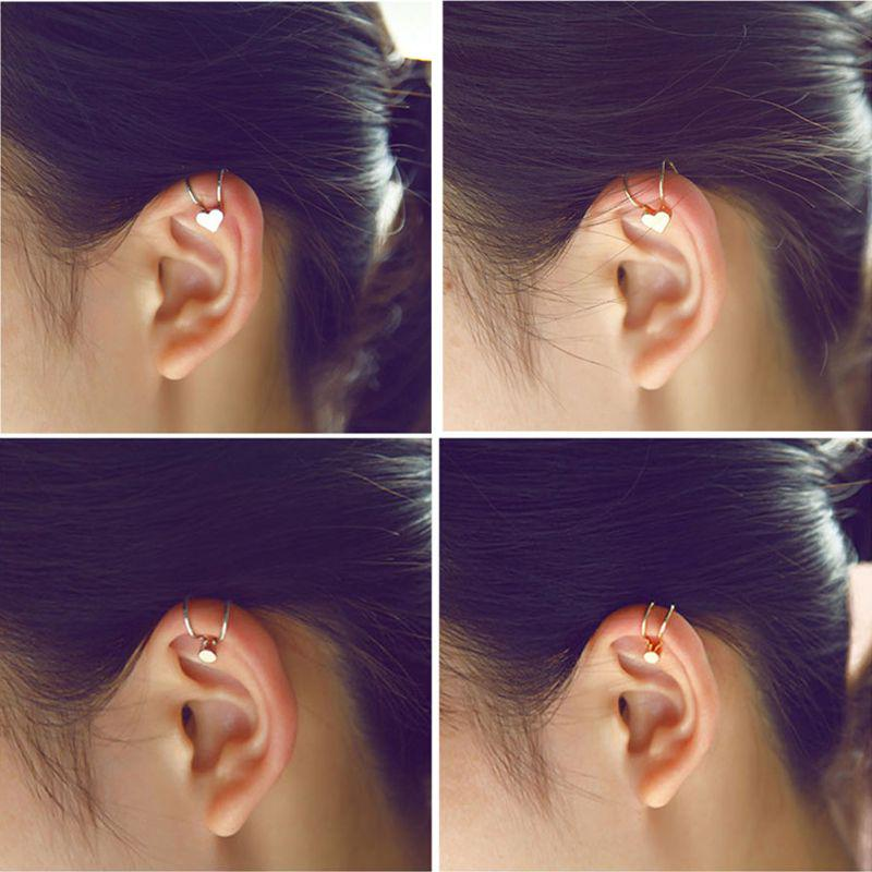 Ear Cuff Clip On Earrings Fake Cartilage Earrings Non-Piercing Men Hot F C6F9