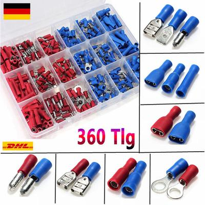 20PCS Fork Spade Wire Connector Electrical Crimp Terminal 14-16AWG 4mm PVCA