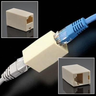 2 Pack RJ45 Ethernet LAN Cable Joiner Coupler Connector RJ45 CAT 5 5E Extender Plug