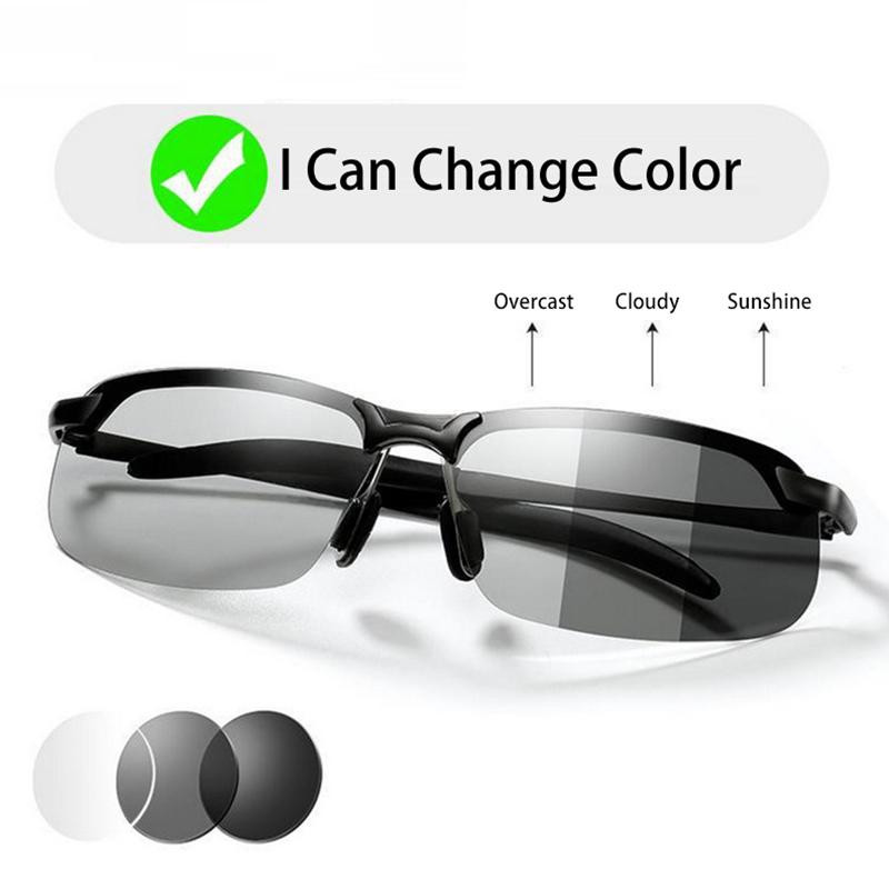 UV 400 Men/'s Color Changing Polarized Sunglasses Day Night Driving Goggles Hot