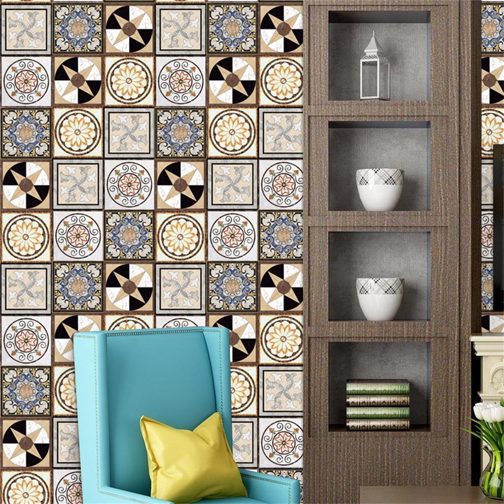 20x Removable Square Wall Tile Decal Floor Wall Paper Sticker Room Decor 1#
