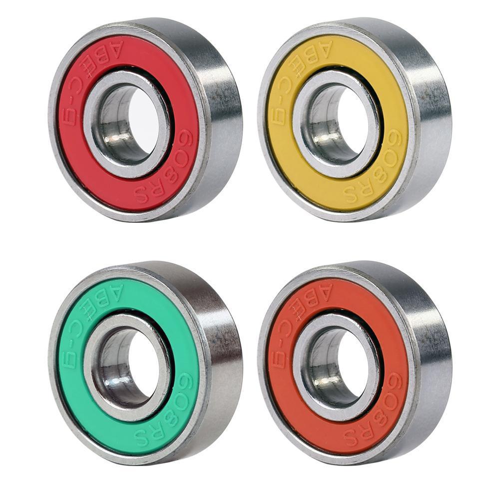 8pcs//set 608RS skate skateboard steel integrated spacer bearings fit bearing HP