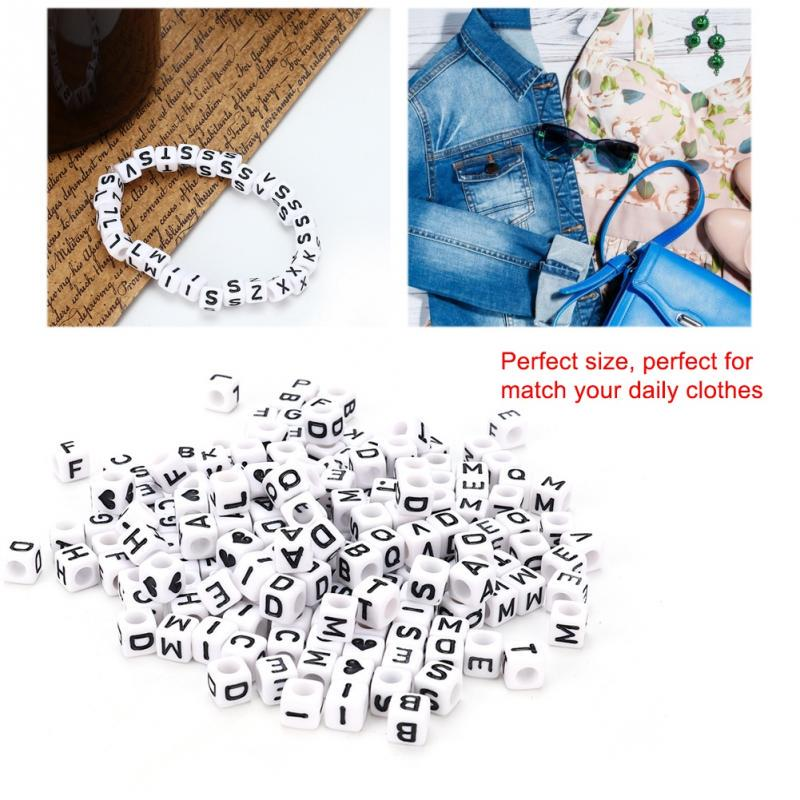 6mm 200 quality alphabet letter resin beads flat round A-Z letters white