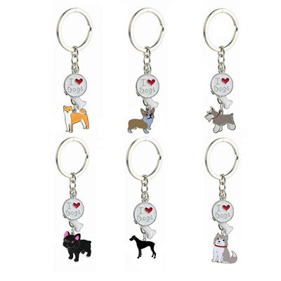 80cb2157ad4 Cute I LOVE DOG Key Chain Alloy Puppy Pet Key Chain Ring Home Decorations