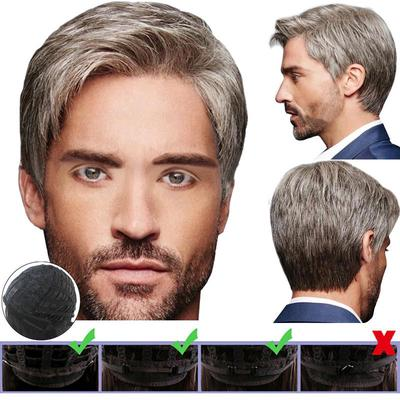 Men Natural Handsome Short Straight Hair Full Wigs Cosplay Layered Style Wig Short Buy At A Low Prices On Joom E Commerce Platform