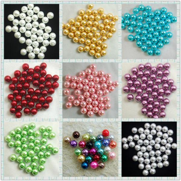 Pcs Art Hobby DIY Jewellery Making Crafts Acrylic Round Beads 4mm White 600