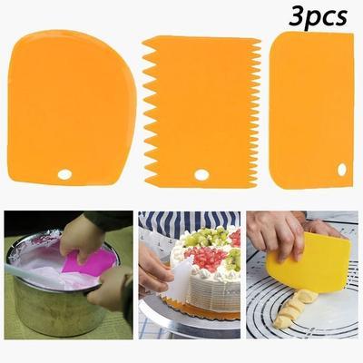 Durevoli denti irregolari bordo raschietto raschietto plastica spatole cottura riutilizzabile torta strumenti per la decorazione della torta pi/ù liscia