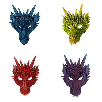 Halloween Mask 3D Dragon Cosplay Mask Horror Party Costume Mardi Gras Mask