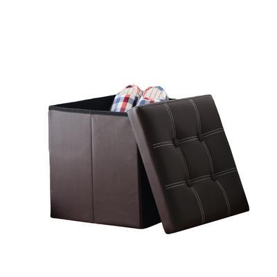 Cubo Plegable Almacenamiento Niños Cesta Con Caja De Tapa Asiento YD29EWHI