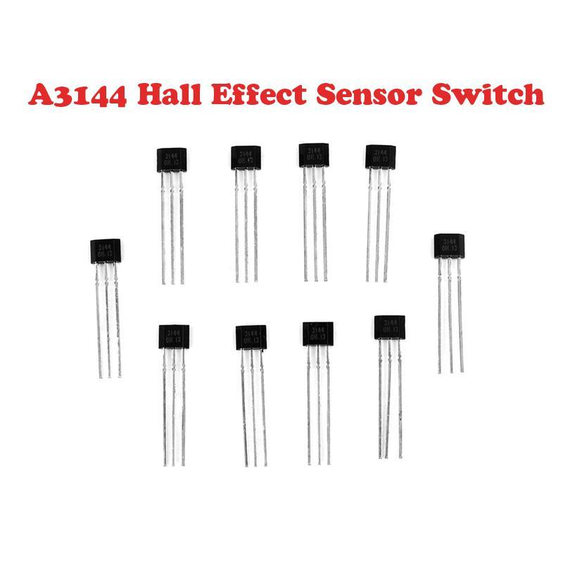 10 Pcs A3144 3Pin Sensitive Hall Effect Switch Sensor