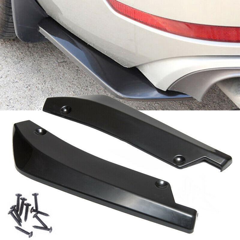 2pc Car Universal Rear Bumper Lip Corner Diffuser Splitter Canard Protector Spoiler wrap Angle Accessories Anti-crash Stying
