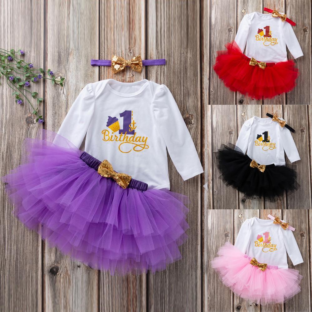 YiZYiF Bébé Fille Vêtement de 1er Anniversaire Noël Barboteuse de Baptême Tutu Robe à Paillettes Body Combinaison à Manche Courte et Bandeau Déguisement Fête 3-18 Mois