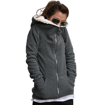 a8fdf41cc02b0 Застегивать женские топы пальто с капюшоном куртка верхняя одежда Толстовки
