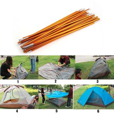 2pcs//set 8.5mm Aluminum Alloy Tent Rod Replacement Tent Support Poles Accessories Outdoor Camping Tent Pole