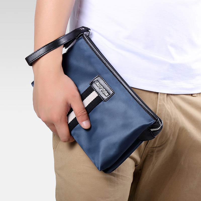 983fab1d11 HAUT TON Men Clutch Bag Zipper Wallet Purse Checkbook Document Passpsort Phone  Handbag-buy at a low prices on Joom e-commerce platform