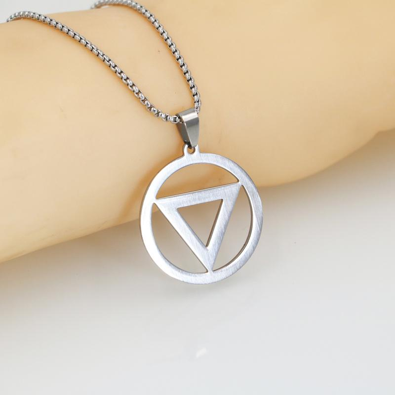 Cheap Fashion Mens Stainless Steel Cross Ring Chain Pendant Necklace/_TI Z0HWETP