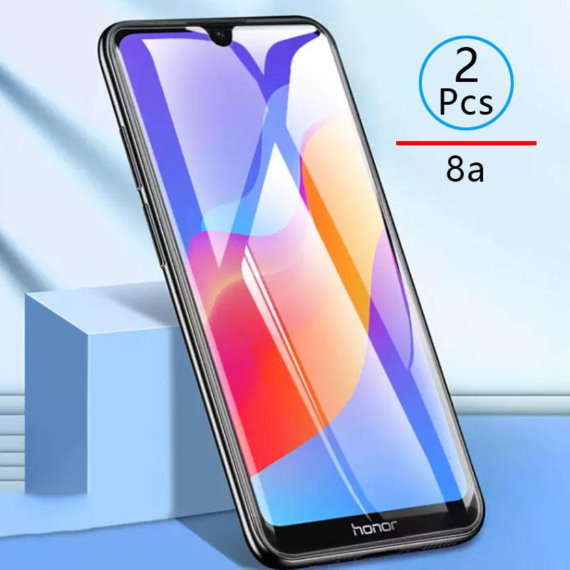 2pcs Закаленное стекло для чести 8a Защитный стеклянный экран Протектор Телефон Фильм Безопасности для Huawei