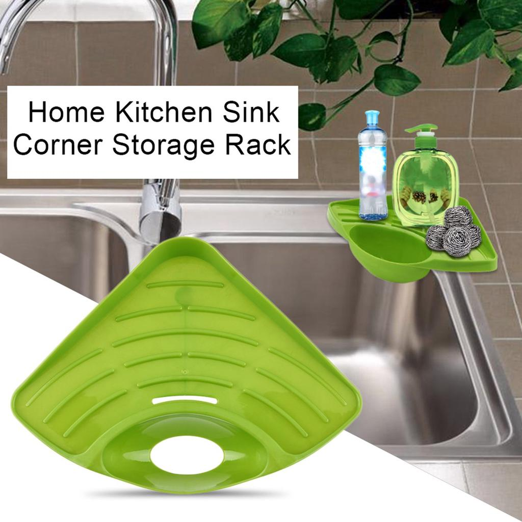 Home Kitchen Sink Corner Storage Rack Solid Color Sponge Holder Organizer Home Life Buy At A Low Prices On Joom E Commerce Platform