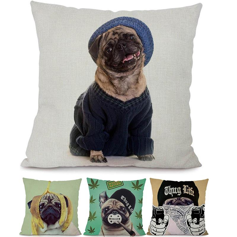 Dog Pillow Covers Funny Pirate French Bulldog Printed Home Decorative Throw Cushion Outdoor Decor Buy At A Low Prices On Joom E Commerce Platform