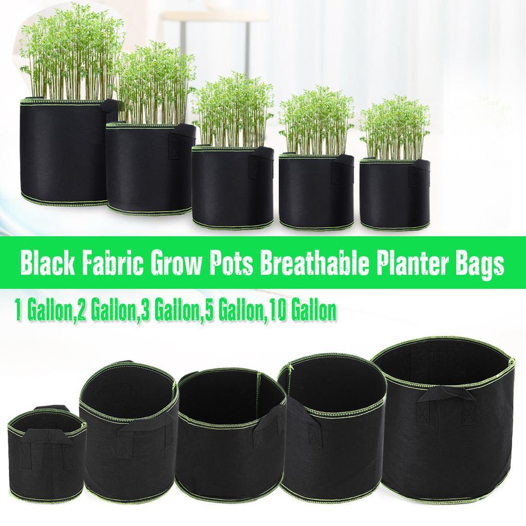 Grow Pots Aeration Fabric Grow Pots Breathable Planter Bags 1//2//3//5//7//10 Gallon
