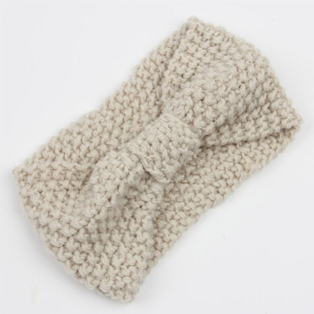 Ganchillo sólido punto diadema para las mujeres invierno turbante ...