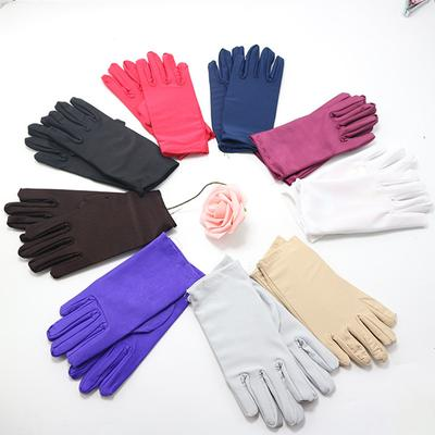 1 Pair Outdoor Sunscreen High Elasticity Thin Short Gloves Etiquette Women's Driving