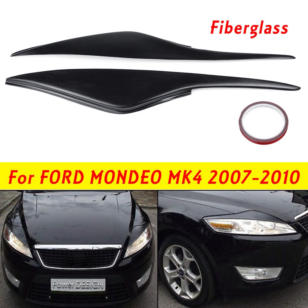 Headlight Eyebrows Eyelids Covers for 2009-2012 Ford Focus ST Hatchback 5 Door