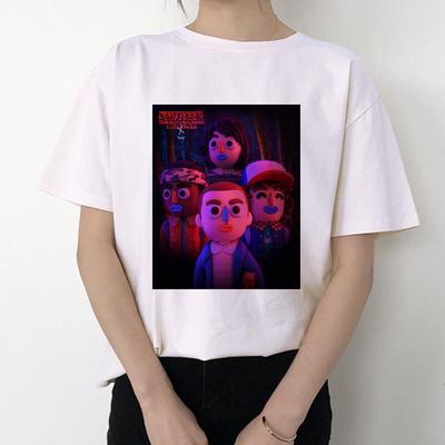 Gato Divertido Mujeres Camiseta Michelangelo Coreano Kawaii