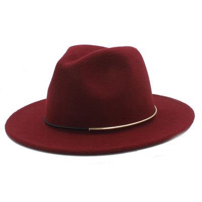 Wool Women Hat Fedora Men For Lady Male Winter Autumn Floppy Cloche Wide  Brim Jazz Church 8eaeee2a3080